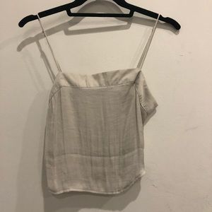 URBAN OUTFITTERS cropped silk top